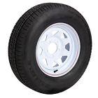Carlisle Radial Trail Trailer Tires, White Spoke Rim - 602531