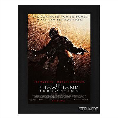 THE SHAWSHANK REDEMPTION Ref 03 Framed Film Movie Poster A4 Black Frame