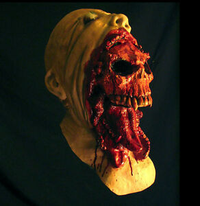 Melting-Face-Zombie-Bloody-Undead-Horror-Adult-Latex-Scary-Insane-Halloween-Mask