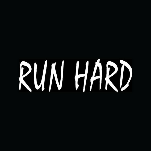 RUN HARD Sticker Track Team Marathon Vinyl Decal Window