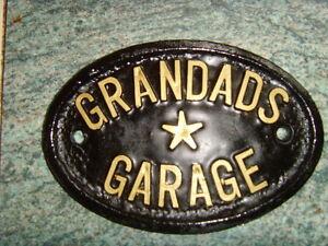 GRANDADS-GARAGE-NEW-SIGN-WORKSHOP-HOUSE-DOOR-PLAQUE