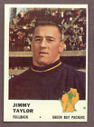 1961 Fleer Jim Taylor #89 Football Card