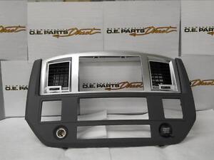 06 09 Dodge Ram Radio Dash Bezel Slate Gray New Mopar Oem Oe 5ks701dhab Ebay