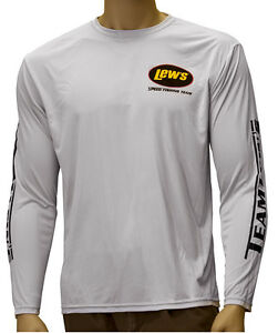 Lew 39 s lews gray 2x large micro fiber shirt new ebay for Lews fishing apparel