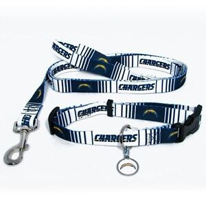 San Diego Chargers Dog Collar Amp Leash Id Tag Pet Set Nfl