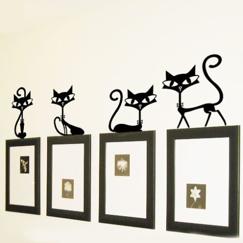 Removable Aesthetic Art  Wall Stickers Cute Cats Decorate Home Decor