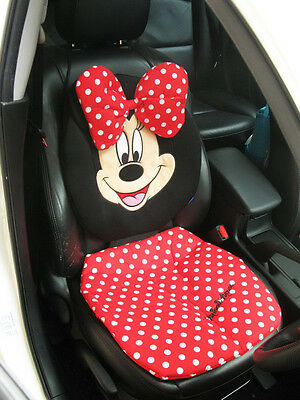 Minnie Mouse Car Accessory #Red: 1 piece Car Seat Pad, Seat Cover
