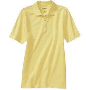 Nwt Womens White Stag Short Sleeve Polo Shirt 3 Button