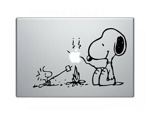 Snoopy-Camp-Fire-Decal-Sticker-Skin-for-Apple-MacBook-Pro-Air-Mac-13-034-inch