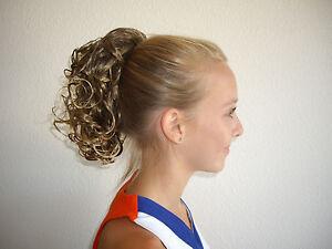 New Cheer Curls Hair Pieces Cheerleader Pageant Dance