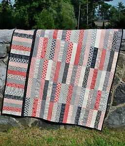 QUILT PATTERN Jelly Roll or Fat Quarters, strip quilt pattern, Sweet Jane s