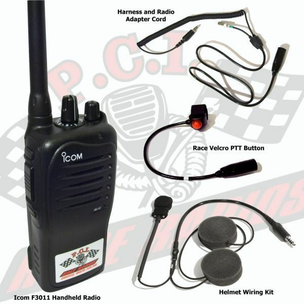 Motorcycle 2 Way Race Radio System With Hand Held Radio