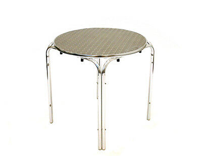 Stacking Aluminium Mobile Catering Tables, Aluminium Tables, Cafe Furniture