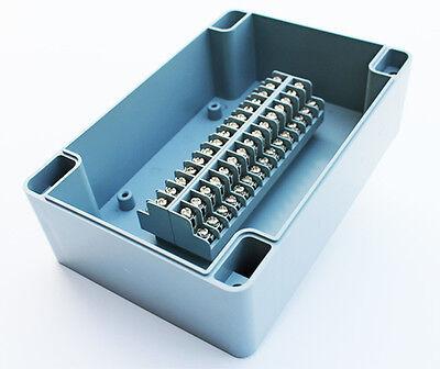 TERMINAL BLOCK ENCLOSURE, 30 POSITION, 10 AMP, IP65, 125X190X65mm, GRAY, 1013