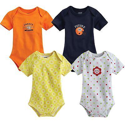 "NWT Vaenait Baby Newborn Infant Girl Boy's Cute Bodysuit "" Rugby and Flower """