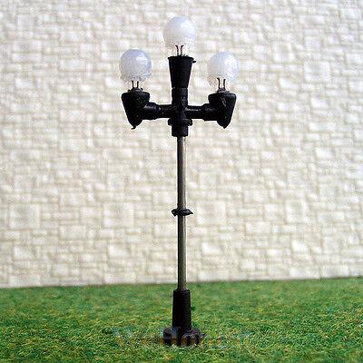 15 pcs HO 3 pearl heads antique lights model Lampposts