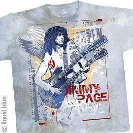 New JIMMY PAGE Double Your Pleasure Tie Dye T Shirt