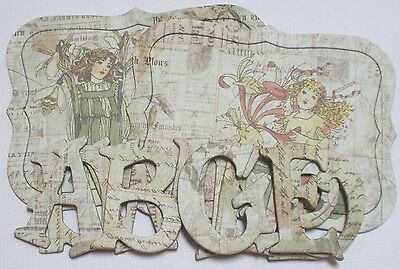 Prima ~*MEETiNG A FAiRY*~ Nature Garden Alphabet Chipboard Letters Die Cuts 1.5""
