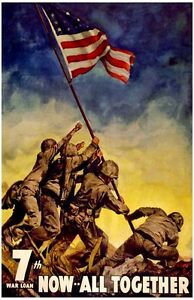 Vintage-American-Poster-WW-2-Now-All-Together