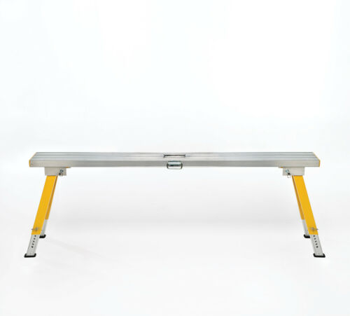 1.75m Aluminium Plasterer Work Platform Trestle High 550800mm Height Adj.