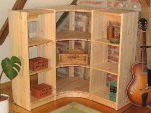 eckregal system kiefer massiv neu 120x110x35 cm ebay. Black Bedroom Furniture Sets. Home Design Ideas