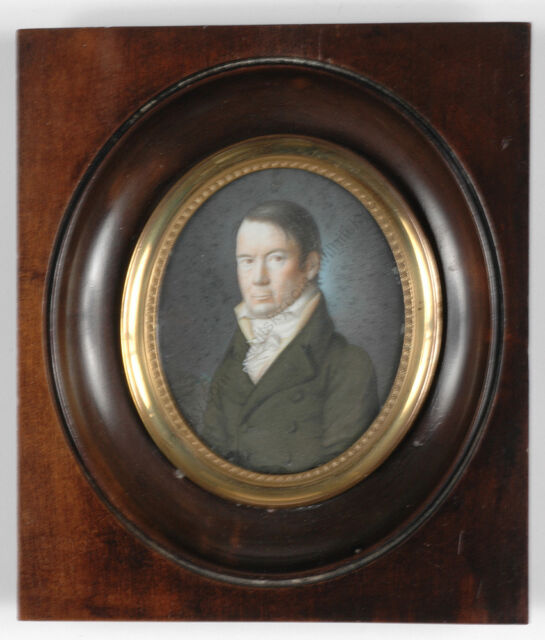 """Portrait of a French gentleman"", miniature, ca. 1825"