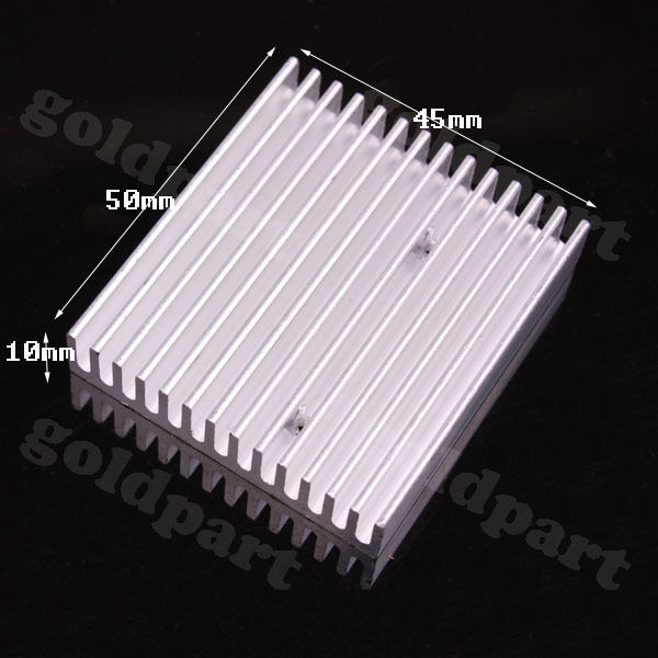 5pcs 50x45x10mm Aluminum Heatsink with hole for Instrument  Electronics DIY H121