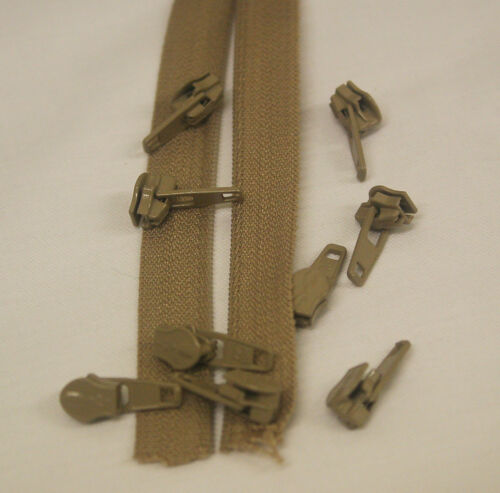 Medium Weight Continuous Zipping with sliders 25m