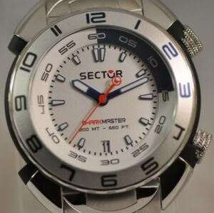 New mens sector r3253178045 shark master silver dial diver - Sector dive master ...