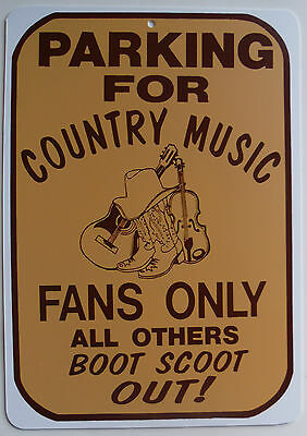 New Plastic Sign Parking For Country Music Fans Only Garage Bar Decor