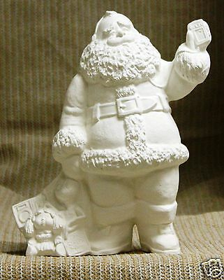 Ceramic Bisque Eighties Santa from Gare Mold 3546 U-Paint Ready To Paint