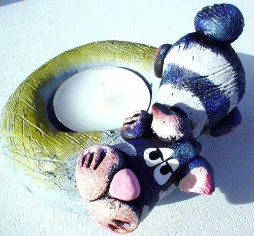 Amusante céramique BOUGEOIRS lumignons support du museau animaux cochon chat vache