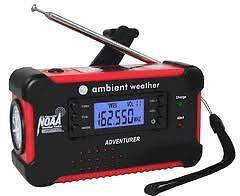Ambient-Weather-WR-111A-Emergency-Solar-Hand-Crank-AM-FM-NOAA-Digital-Radio-NEW