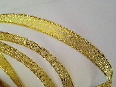 1metro nastro in organza 10 mm oro