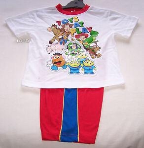 Disney-Pixar-Toy-Story-Gang-Boys-White-Red-Printed-Pyjama-Set-Size-6-New