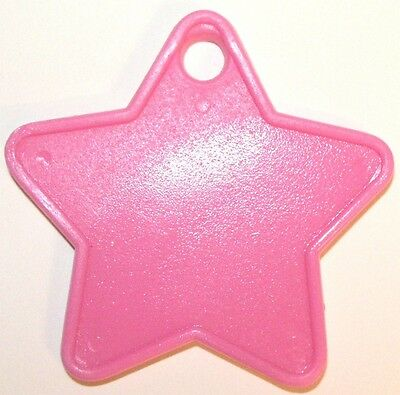 50 PINK STAR WEIGHTS for helium foil balloons hot pink cerise rose