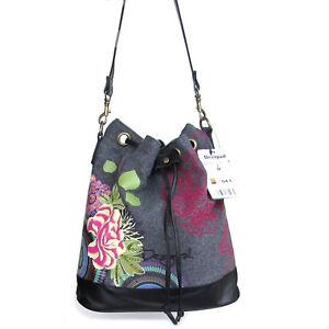 2012-DESIGUAL-SACO-FIELTRO-CARRUSEL-Shoulder-Tasche-Bag-Handtasche-Handbag-New