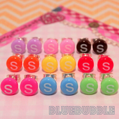 FUNKY MINI CANDY STUD EARRINGS 8MM CUTE KITSCH RETRO SWEET POP KAWAII JUNK FOOD