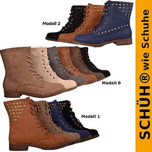 NEU-Damen-Schnuerboots-Schuhe-Schnuerer-Boots-Stiefelette-NEU-0104