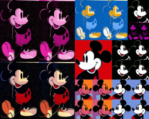 Andy Warhol Style Canvas Multi  Mickey Mouse 16 x 20