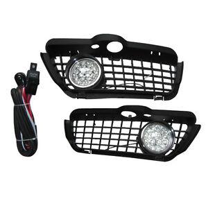 92-98-VW-GOLF-MK3-FRONT-BUMPER-LED-FOG-LIGHT-LAMP-GRILLE-KIT
