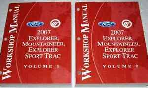 2007 ford explorer sport trac mountaineer service shop. Black Bedroom Furniture Sets. Home Design Ideas