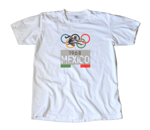 Vintage 1968 Mexico Olympics Decal T-Shirt - Track, Running, Cycling, Swimming
