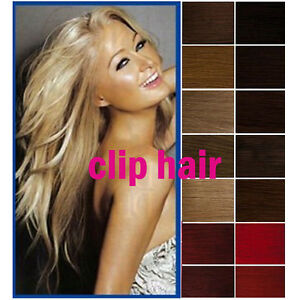 Hot-CLIP-IN-REMY-REAL-HUMAN-HAIR-EXTENSIONS-Full-amp-Half-Head-15-034-24-034-All-Color