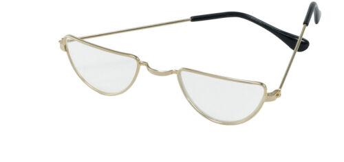 VECCHIO uomo occhiali della nonna Half Moon Occhiali Costume Adulto