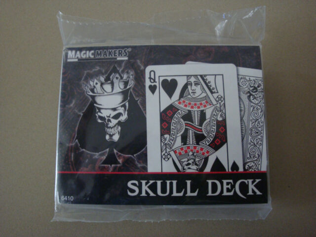 SKULL DECK BICYCLE PLAYING CARDS - MAGIC CARD TRICKS POKER SIZE USPCC GAME GAFF