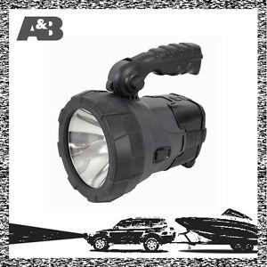 Solar-12V-240V-Weatherproof-LED-Spotlight-Torch-Rechargeable-Flashlight-Light