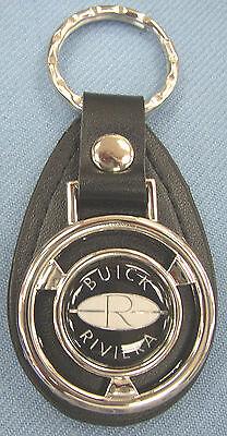 Buick RIVIERA Mini Steering Wheel Black Leather Keyring 1984 1985 1986 1987 1988