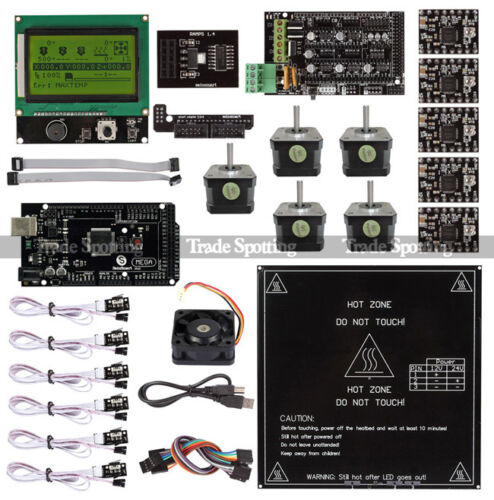SainSmart Ramps 1.4 + Mega2560 R3 + LCD 12864 3D Print Controller Kit For RepRap