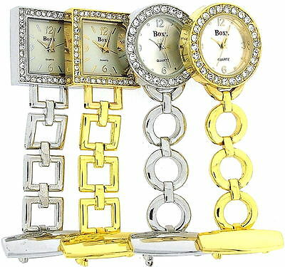 Boxx Glamour Gold Silver Square Round Professional Ladies Nurses Fob Watches